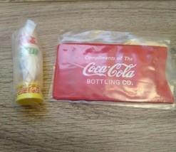 Coca Cola Sewing Kit & Thumb Thimbles - Compliments of the Coca-Cola Bot... - $21.78