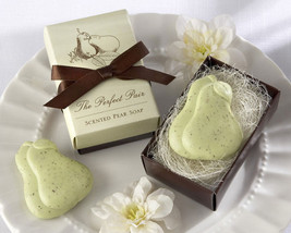 96 Perfect Pair Scented Pear Soap Bridal Wedding Favors in Gift Box - $158.00