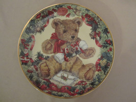TEDDY'S FIRST CHRISTMAS collector plate TEDDY BEAR Franklin Mint SARAH B... - $14.99