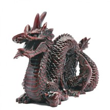 Large Chinese Stone Resin Red Dragon Statue - $27.95