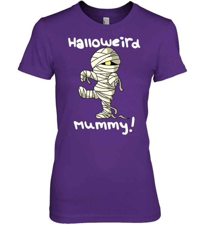 Funny Halloween Tshirt with Mummy for Women and Kids