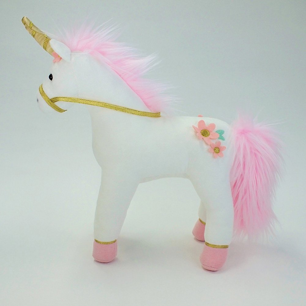 Image 4 of Gund Lilyrose Pink Unicorn Plush, 13