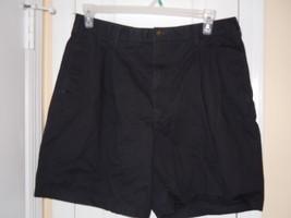 Chaps Ralph Lauren Men's 36 Shorts Black Pleated 100% Cotton Excellent. Cond. - $7.91