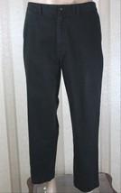 POLO by RALPH LAUREN Men's 38 x 30(29) Khaki Black Flat Front Preston Pa... - $28.05