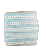 Vintage Lace Cotton Nylon Pleated White Blue Bridal Lingerie 17 3/4 Yd X... - $47.00