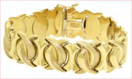 """Stunning Estate Heavy 31g Fancy Vintage 3/4"""" WIDE 18K Yellow Gold Bracel... - $2,420.14"""