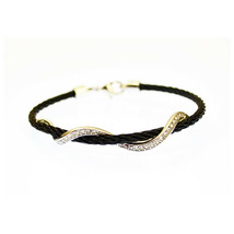 New! Kabl Brand Serpente Stackable Twisted Stainless Steel Cable Bangle Bracelet - $19.99