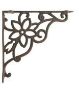 "Cast Iron Wall Shelf Bracket Brace Vine & Flower Rust Brown 9.625"" DIY C... - $16.82"
