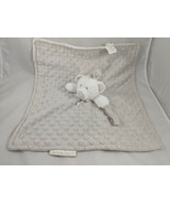 Blankets & Beyond Bear Lovey Gray Security Blanket Plush Dots - $18.95