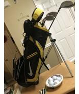 NIKE SQ MACHSPEED Junior Golf Woods Irons Putter Set w/Stand Bag RH Juni... - $88.48