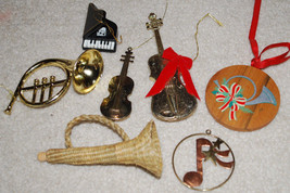 Musical Instruments LOT Christmas Ornaments Fre... - $14.80