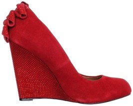 Women's Betsey Johnson CHHASE Chase Platform Wedge Dress Pumps Heels Red... - $62.99