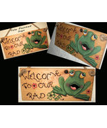 Homorous Door Signs, Frog Signs, Welcome Sign, Unique Frog Gifts - $42.99