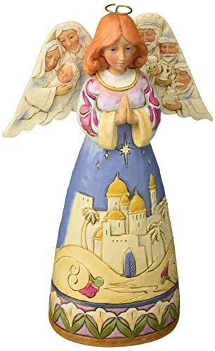 Primary image for Enesco Jim Shore Heartwood Creek Angel w/Nativity Sculptedwings w, Multicolor
