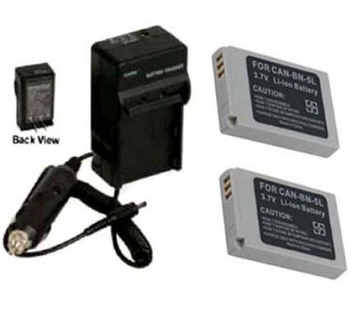 2 Batteries + Charger for Canon SD700IS SD790IS SD800IS SD850IS SD870IS SD880IS - $30.57