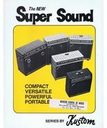 ORIGINAL Vintage 1970s Kustom Super Sound Amps Catalog - $18.51
