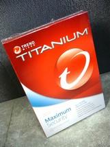 NEW SEALED TREND MICRO TITANIUM 2013 MAXIMUM SE... - $4.90