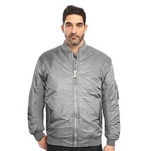 Maximos USA Men's Padded Water Resistant Reversible Flight Bomber Jacket (Small,