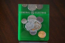Vintage General Electric Effective Cash Management Paperweight Coins - $17.48