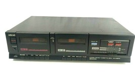 Akai HX-A301W Stereo Double Cassette Deck Dolby System - $48.98