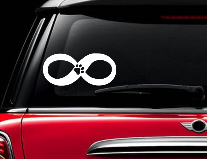Infinity Paw Rescue Pet Pets Dog Cat Cats Kittens Car Laptop Decal Paw Sticker - $8.99