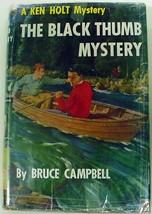 Ken Holt no.3 The Black Thumb Mystery like Hardy Boys hcdj Bruce Campbell - $5.00