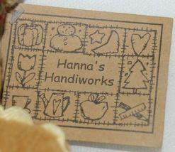 Hannas Handiworks HH27160 Brown Gingerbread Christmas Tree Ornament image 5