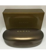 GUCCI GOLD BROWN MEDIUM HARD SHELL CASE WITH CLOTH & CARDBOARD BOX - $29.40