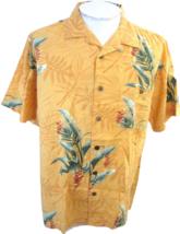 JOE MARLIN Men Hawaiian ALOHA shirt pit to pit 25 L floral luau camp but... - $14.68