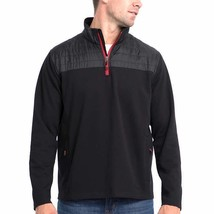 costco.com deals on Eddie Bauer Mens Mixed Media 1/4 Zip Pullover