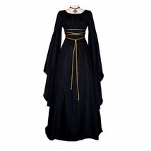 Women European American Party Halloween costume Retro Dress irregular Dr... - $26.99