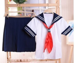 Japanese JK Girls Sailor Suit School Uniforms Dance Show Suit Cosplay Co... - $19.99