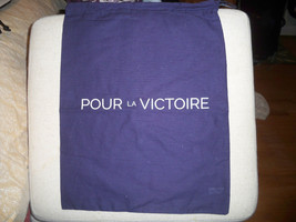"POUR la VICTOIRE Navy Blue   Drawstring  Dust  Cover  Bag  12x15"" - $9.89"
