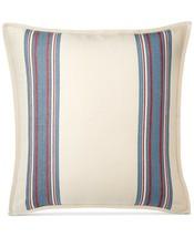 Ralph Lauren Home Kelsey Ticking Stripe Cream Red Blue Euro European Pil... - $58.79