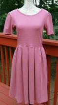 LuLaRoe Size Medium Amelia Red & White Fit & Flare Stretch Dress Women's (BE) - $17.80