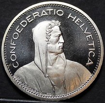 Rare Proof Switzerland 1985 5 Francs~12,000 Minted~Helvetia~Free Shipping - $20.09