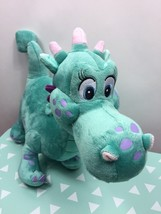 Disney Store Plush Crackle the Dragon from Sophia the First Teal Stuffed Animal - $12.87