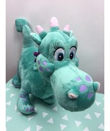 Disney Store Plush Crackle the Dragon from Sophia the First Teal Stuffed... - $12.87