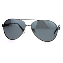 Be One Polarized Lens Aviator Sunglasses Metal Frame Spring Hinge - $12.95