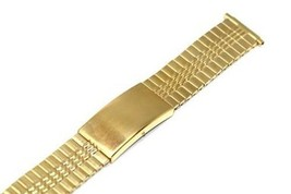 Timex 16-22MM Short Stainless Gold Expansion Fast Fit Strap Watch Band - $19.79