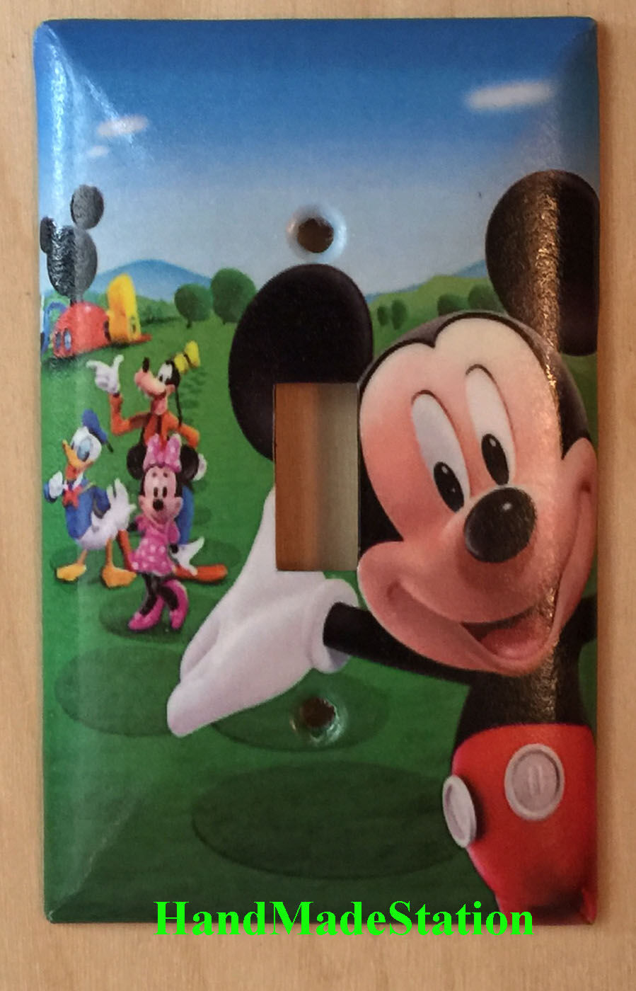 Mickey Mouse House Club Light Switch Duplex Outlet wall Cover Plate Home decor