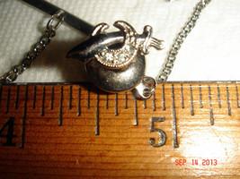 VTG 925 STERLING SILVER MID CENTURY MAD RHINESTONE SWORD TIE TACK COLLAR... - $47.99