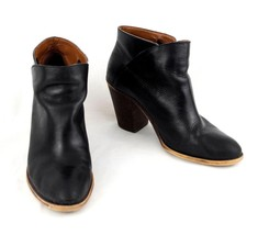 Lucky Brand Ankle Boots 10 M Black Leather High Heel  EU 40 - $38.69