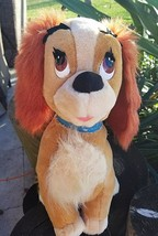 "Walt Disney World Vintage Lady and the Tramp Dod Plush Stuffed Animal 14"" Tall - $19.79"