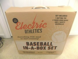 Electric Athletics Baseball In A Box Set Batting Tee, Bases, Baseballs-F... - $39.37