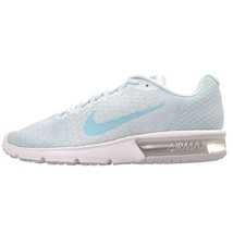 WOMEN'S NIKE AIR MAX SEQUENT 2 SHOES platinum blue 852465 014 MSRP - £34.52 GBP