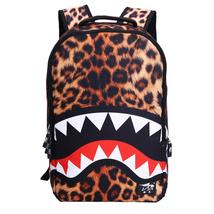 Creative shoulder protection student waterproof Leopard shark pattern ba... - $26.00