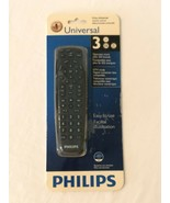 Philips Universal Remote Control Black 3 Devices SRP1003/27 New Sealed - $7.99