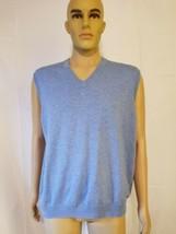 Brooks Brothers Supima 100% Cotton Light Blue Sweater Vest Mens Size Large - $39.19