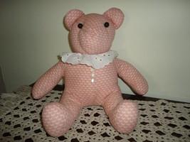 OOAK Handmade Canada BEAR Peach Cotton Fabric - $67.54